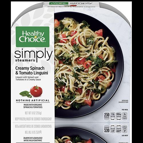 Creamy Spinach And Tomato Linguini